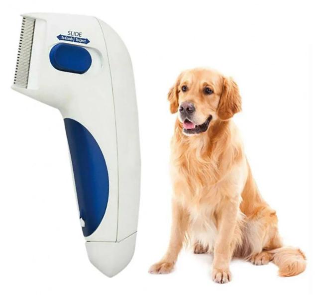 Расчески для животных | Электрическая расческа от блох для собак и котов Flea Doctor