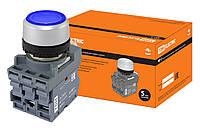 Кнопка с фиксацией MP2-21L(LED) в сборе d22мм/24В 1з+1р синяя TDM