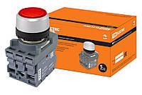Кнопка с фиксацией MP2-21R(LED) в сборе d22мм/220В 1з+1р красная TDM