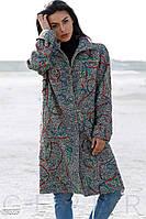 Цветное буклированное пальто Gepur 28525