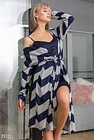 Трикотажный халат с рисунком Gepur 29313