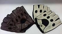 Автомобильные перчатки из натуральной кожи модель 245bk бордо без подкладки, фото 2