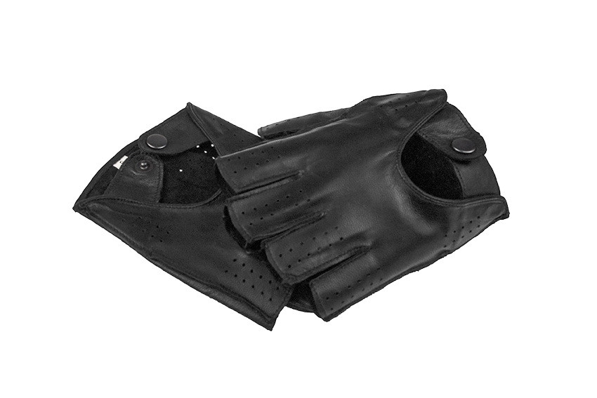 Автомобільні рукавички з натуральної шкіри модель 245bk без підкладки