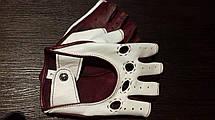 Автомобильные перчатки из натуральной кожи модель 245bk без подкладки, фото 3