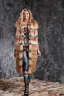 Жилет из длинноворсной финской лисы SAGA с отстежным подолом, фото 1