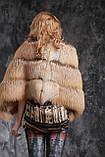 Жилет из длинноворсной финской лисы SAGA с отстежным подолом, фото 7