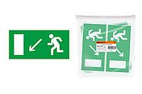 """Знак """"Направление к эвакуационному выходу налево вниз"""" 200х100мм TDM"""