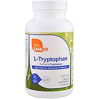 Zahler, L-триптофан, очищенный L-триптофан, 500 мг, 60 капсул