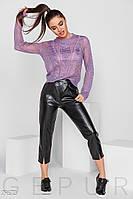 Укороченные кожаные брюки Gepur 29673