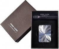 """USB Зажигалка """"Серебряный дождь"""" №310029 - электронная,  яркий дизайн, зеркальный блеск"""