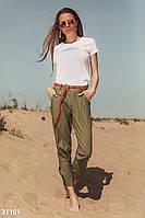 Хлопковые укороченные брюки Gepur 31101