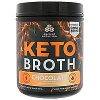 Dr. Axe / Ancient Nutrition, Keto Broth, активационный кето-бульон, шоколад, 20,5 унц. (580 г), фото 1