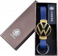 """Электронная USB Зажигалка-брелок """"Wolkswagen"""" Gold  №310033 - многофункциональность и креативный дизайн"""