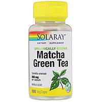 Solaray, Органически выращенный зеленый чай маття, 300 мг, 100 растительных капсул