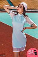 Платье с сетчатыми рукавами Gepur 31355
