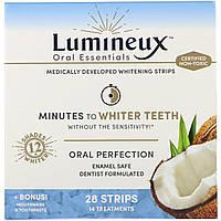 Oral Essentials, Отбеливающие полоски, 28 полосок + Ополаскиватель для рта и зубная паста в подарок, Комплект из 3 предметов