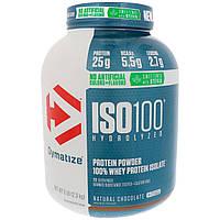 Dymatize Nutrition, ISO100 гидролизованный, 100% изолят сывороточного протеина, натуральный шоколадный вкус, 5 фунтов (2,3 кг), фото 1
