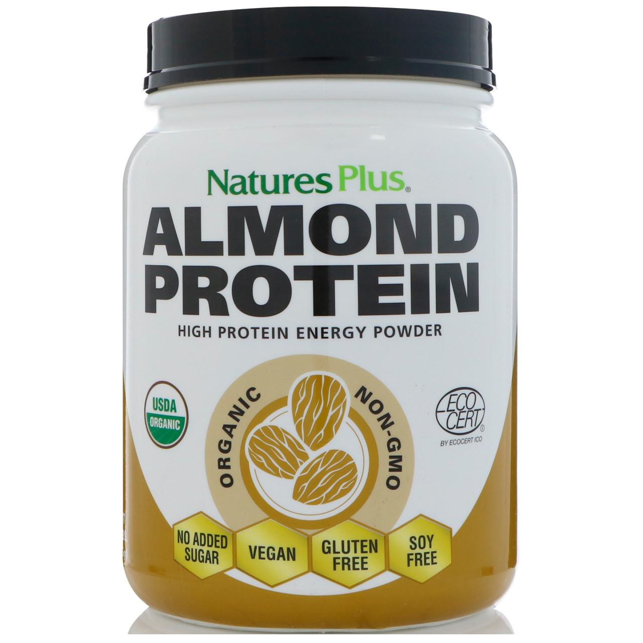 Nature's Plus, Миндальный белок, 469,5 г (1,04 фунта)