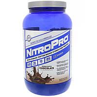 Hi Tech Pharmaceuticals, NitroPro, Гидролизованный протеин, Двойной голландский шоколад, 2 фунта (907 г), фото 1