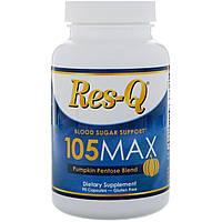 Res-Q, Регулятор уровня сахара, 105MAX, пентоза тыквы, 90 капсул, фото 1