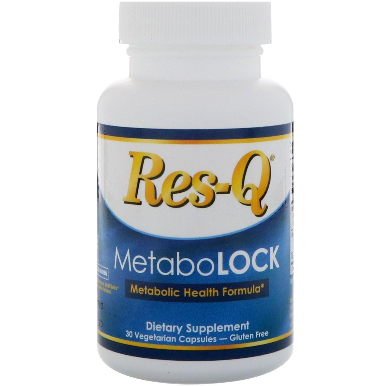 Res-Q, MetaboLOCK, формула для поддержки метаболизма, 30 вегетарианских капсул