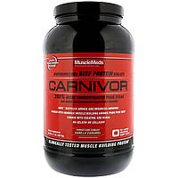 MuscleMeds, Carnivor, Полученный биотехнологически изолят говяжьего белка, Ванильная карамель, 2,1 фунта (957 6 г)