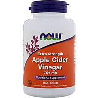 Now Foods, Apple Cider Vinegar, Extra Strength, 750 mg , 180 Tablets