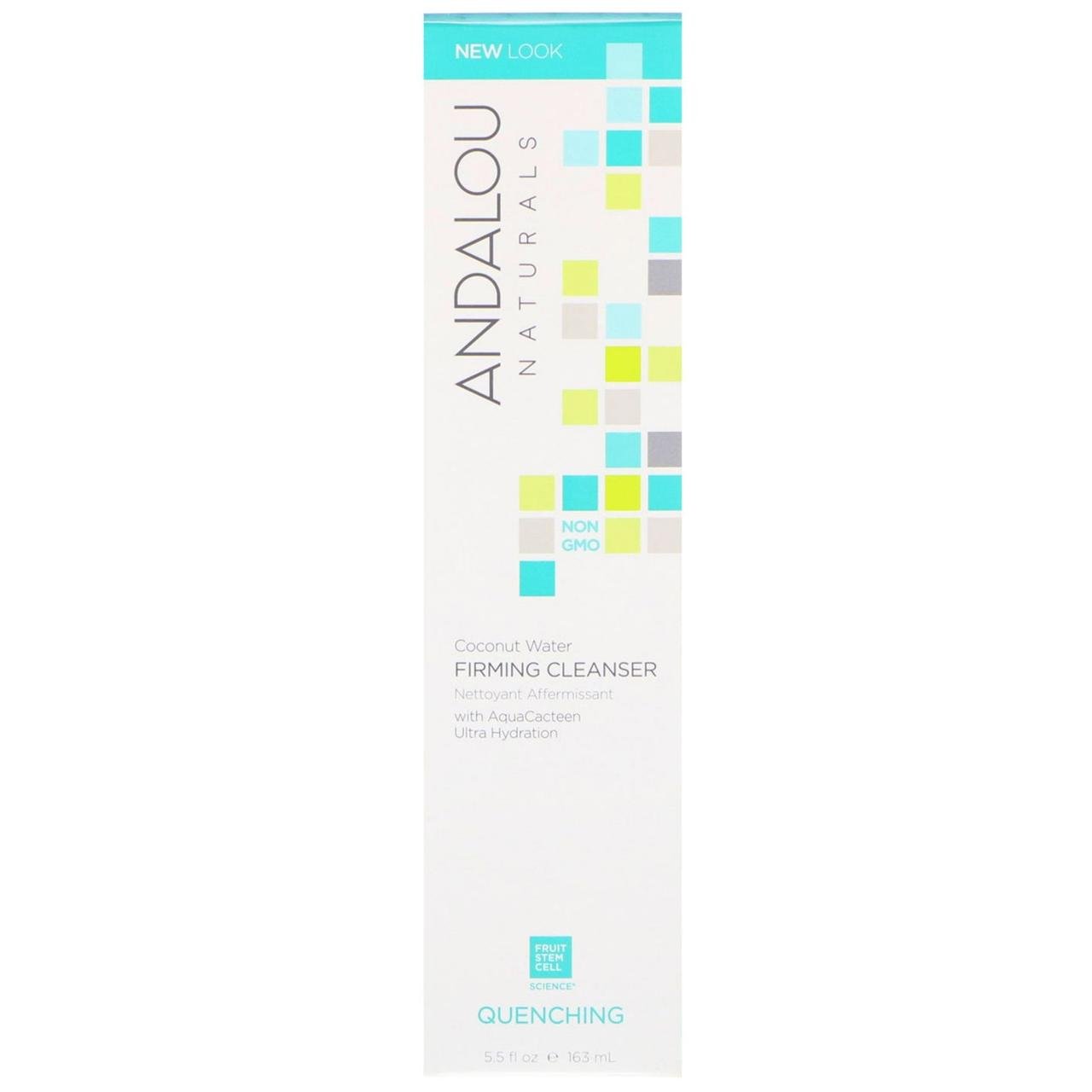 Andalou Naturals, Coconut Water Firming Cleanser, Quenching, 5.5 fl oz (163 ml)