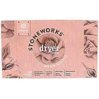 GrabGreen, Stoneworks, Dryer Sheets, Rose Petal, 50 Sheets