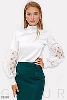 Шелковая классическая блуза Gepur 32207