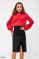 Яркая деловая блуза Gepur 32209