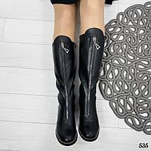 Сапоги кожаные женские зима, фото 2