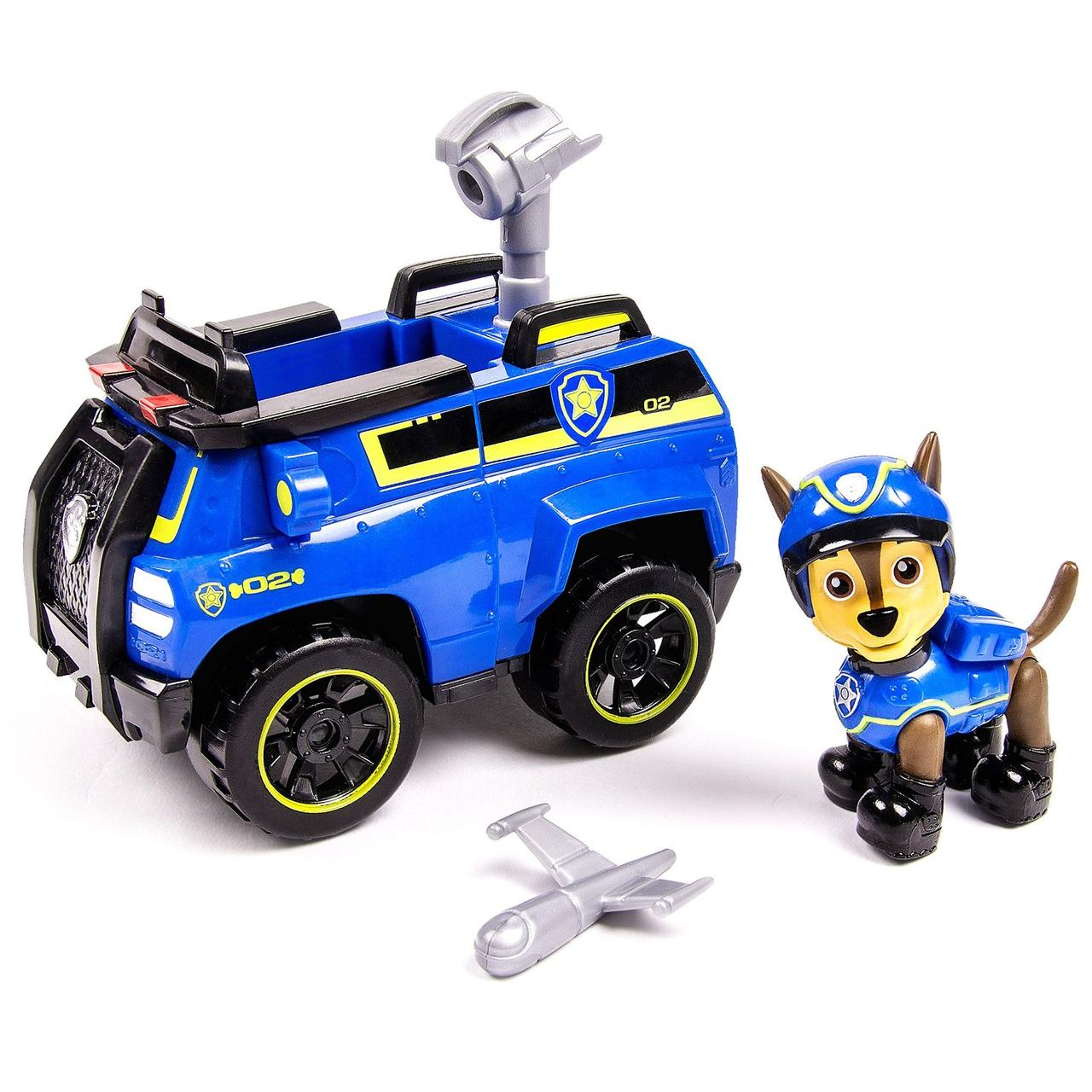 Paw Patrol Щенячий патруль Гонщик тайный агент Chase's Spy Cruiser Vehicle and Figure