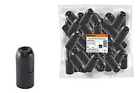Патрон Е14 подвесной, термостойкий пластик, черный, Б/Н TDM