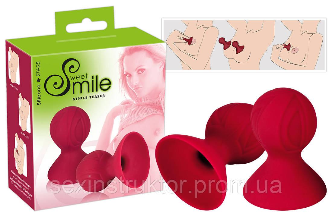 Женская помпа - Sweet Smile Nipple Teaser Red Nippelsauger