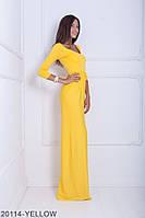 Яскраве легке плаття-максі з рукавом три чверті Delise