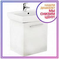 NOVA PRO комплект: умывальник 50cm прямоугольный + шкафчик для умывальника белый глянец (пол)