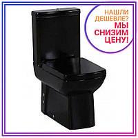 Унитаз напольный c сиденьем Soft Close  (чёрный)