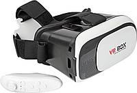 🔝 Очки виртуальной реальности VR BOX для смартфона + пульт , 3D окуляри, відео-окуляри, гаджети віртуальної реальності