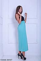 Яскраве двокольорове пляжне плаття з відкритою спиною і зав'язкою на шиї Galantis