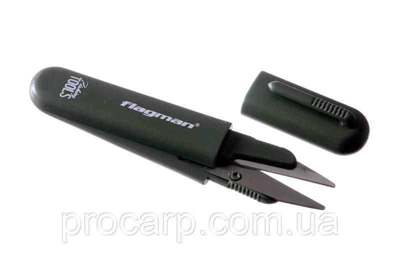 Ножницы для лески Flagman green matt / black