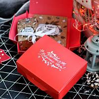 Новогодний набор крафтовый (Креативный шоколад и Чай) 150г на подарок