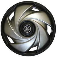 Колпаки на колеса R13 черные + серебро, Star Torino+ (3104) - комплект (4 шт.)