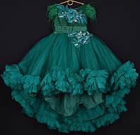 """Платье нарядное детское """"Феерия"""". 6-7 лет. Зеленое. Оптом и в розницу, фото 1"""