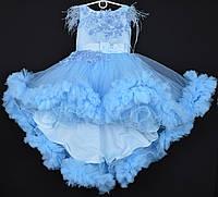 """Платье нарядное детское """"Феерия"""". 6-7 лет. Голубое. Оптом и в розницу, фото 1"""