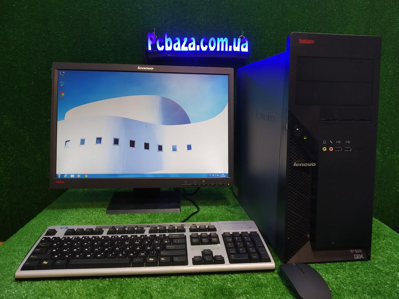 "Комплект Lenovo M55, 4 ядра, 4 ГБ ОЗУ, 500 Гб HDD + монитор 22"" Lenovo , Полностью настроен!"