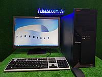 "Комплект Lenovo M55, 4 ядра, 4 ГБ ОЗУ, 500 Гб HDD + монитор 22"" Lenovo , Полностью настроен!, фото 1"