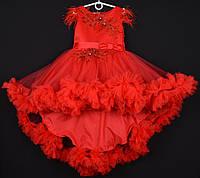 """Платье нарядное детское """"Феерия"""". 6-7 лет. Красное. Оптом и в розницу, фото 1"""