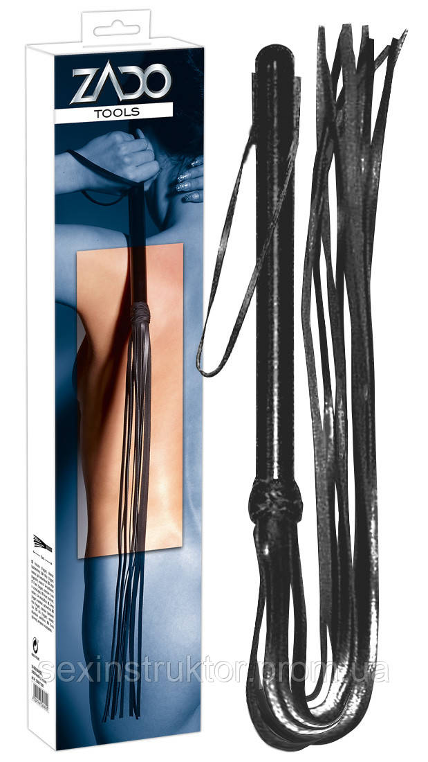 Плетка - 2040417 Leather Flogger Wooden Handle, S-L