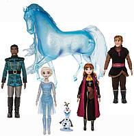 Подарочный набор кукол Холодное сердце 2: Эльза, Анна, Кристофф, Олаф, Маттиас, Нокк / Deluxe Disney Frozen 2